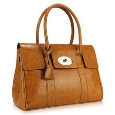 Minerva Collection Fashion Shoulder Bag Tan Brown b32248a86a36