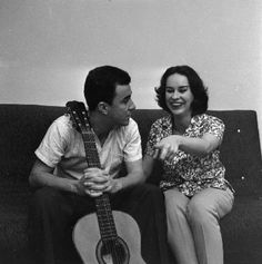 Joao Gilberto established the new musical genre of Bossa Nova, most international of Brazilian musical forms, changing Brazilian music forever. Famous Singers, Famous Artists, Music Artists, Astrud Gilberto, French New Wave, Video Game Music, Cool Jazz, Jazz Blues, Types Of Music