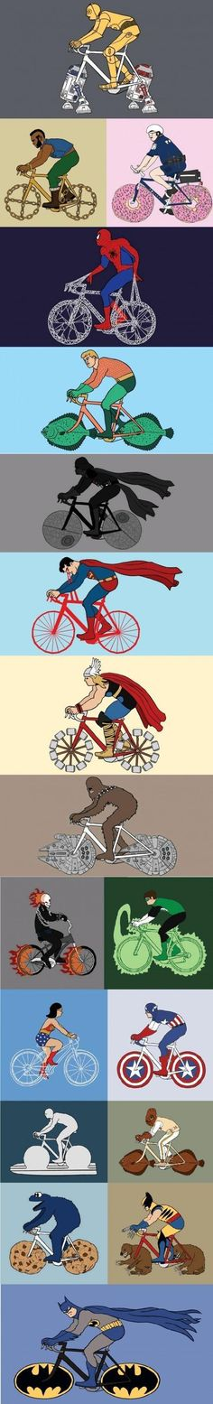 Bikes of Super Heroes and other characters