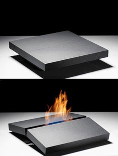 Fireplace on your Coffee Table by Porsche Studio Design | DesignRulz