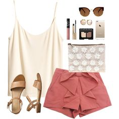 flower clutch by classically-preppy on Polyvore featuring H&M, Gap, ASOS, NARS Cosmetics and Elizabeth Arden