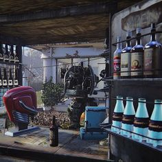 My crazy Mr Handy bartender. #fallout #fallout4 #gaming #robots #enb #hessohandy