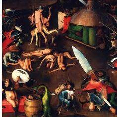 Middenpaneel Het laatste Oordeel met ei-monster Jeroen Bosch