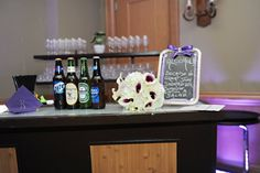 Bar Sign, Purple, Wedding, Tampa, Orlando, Clearwater. Best Photographer Ever!  Rhodes Studios: http://www.rhodesstudios.com, Hyatt Regency Clearwater Beach Resort and Spa: http://www.clearwaterbeach.hyatt.com, Flowers: http://beautifultampaweddings.com, Frequency Band:  http://www.frequencybandorlando.com, Cake: http://www.cakesbynomeda.com, MMD Events: http://www.mmdevents.com, Lighting: http://www.baystagelighting.com/ Comment if you have any questions about where I got things!