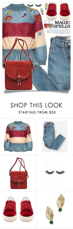 """""""Denim Trend"""" by aleks-g ❤ liked on Polyvore featuring RED Valentino, Everlane, Violet Voss, INDIE HAIR, Anya Hindmarch, Bloomingdale's and Nails Inc."""
