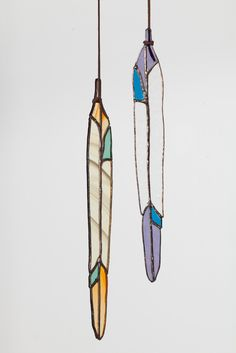 Colin Adrian Stained Glass Long Feather | Beautiful Dreamers
