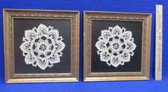 Vintage Doilies Professionally Framed | Wall Hangings                                                                                                                                                                                 More