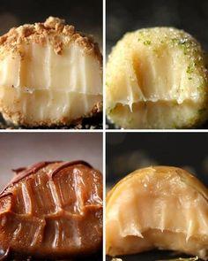 São quatro receitas, mas conta como uma só porque você provavelmente vai comer estes brigadeiros de cheesecake, de torta de limão, de churros e de crème brulée numa tacada só. Veja aqui as receitas.