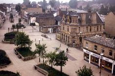 Ossett Market Place & Bank Street in 1980