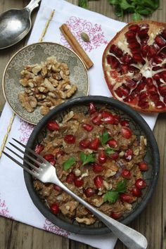 vegetarian Fesenjan- Persian Pomegranate Stew
