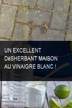 Un excellent désherbant maison au vinaigre blanc ! #vinaigreblanc Voici, Canning, Diy, Gardens, Bricolage, Do It Yourself, Home Canning, Homemade, Diys