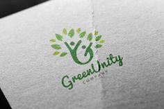 Green Unity #Unity#Green#Templates#Logo