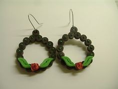 Quilling Me Softly: Quilled earrings