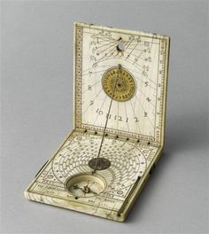 (Reminds me of sundial at All Soul's College, Oxford) Diptych sundial, late 16th century