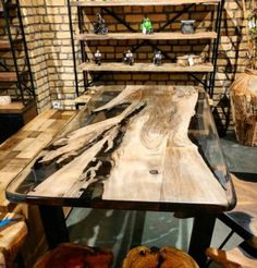 Cool 67 Amazing Resin Wood Table For Your Home Furniture. Wood Resin Table, Wooden Tables, Dining Tables, Resin Furniture, Furniture Design, Furniture Ideas, Woodworking Bed, Woodworking Videos, Woodworking Techniques