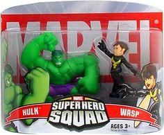 Marvel Superhero Squad Hulk & Wasp Mini Figure 2-Pack super hero, mini figur, superhero squad, marvel superhero, da marvel, figur 2pack, favorit toy, boneco da, marvelici super
