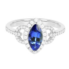 14K Exquisite Tanzanite Ring with diamonds (NEW ARRIVAL) | Your #1 Source for Jewelry and Accessories