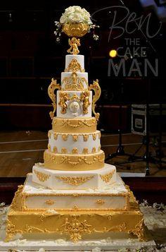 Fountain Wedding Cakes, Fruit Wedding Cake, Big Wedding Cakes, Wedding Cake Fresh Flowers, Square Wedding Cakes, Amazing Wedding Cakes, Wedding Cake Designs, Purple Wedding, Amazing Cakes