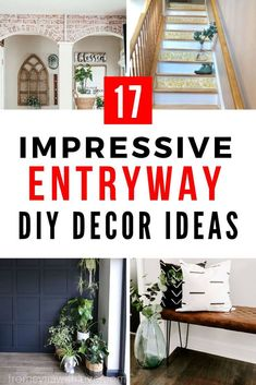 Make a first good impresion with thee simple front entrance area decor ideas. These home decor ideas for your entryway or foyer are easy and simple to create, whether you have a small or narrow space to decorate. #diy #entryway #ideas