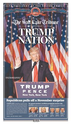 Donald Trump's victory on Election Day was notable not only that it contradicted the polls, but that it defied the entire newspaper opinion-page consensus that the Republican nominee was not fit for the presidency. Newspapers that had historically only endorsed Republicans and publications that had never endorsed anyone before slammed Trump's candidacy. But the defiant developer, who accused the media of somehow rigging the election, was not harmed by the criticism.