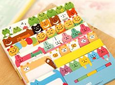 Set of 2 Cute animal sticky notes memo pads for DIY by 2to2lm, $3.50