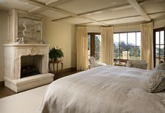 Contemporary Monochromatic Gold Bedroom Design Ideas, Pictures, Remodel, and Decor - page 12
