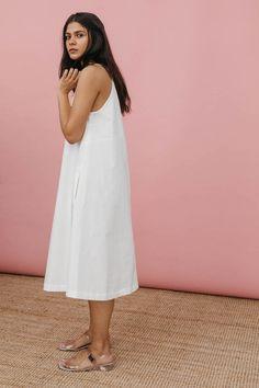 3f69597bdac6 Wolcott   Takemoto Joni Dress In White Cotton