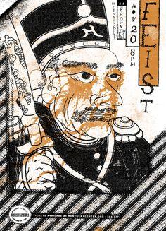 feist and jason collett - gig poster