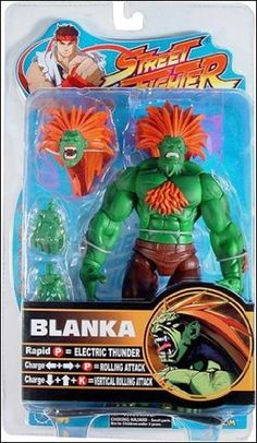 Street Fighter Round 2 Blanka Action Figure (Green with Orange Hair Variant) @ niftywarehouse.com #NiftyWarehouse #StreetFighter #VideoGames #Gaming