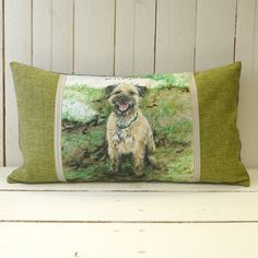 Hand made Dog Cushion - Not Mud. We are delighted to boast that these limited edition cushions are printed in the UK and handmade here at Little Dog towers.