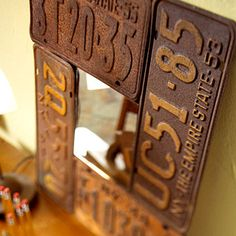 Vintage License Plate Mirror ♪ ♪ ... #inspiration_diy GB