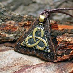 Bronze Triquetra Infinity Celtic Symbol Irish Knot by MAGICrebEL, $28.99