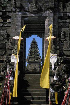 Hindu style temple, looking through doorway - Bali, Indonesia...