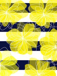 #design #textile #floral #pattern #print #yellow