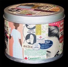 Decorative Upcycled Metal Tin - an idea for the homemade lip balm
