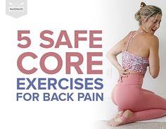 5 Safe Core Exercises for Back Pain Stretching Exercises For Back, Lower Back Pain Exercises, Core Exercises For Beginners, Stability Exercises, Sciatica Exercises, Stretches, Sore Lower Back, Lower Back Injury, Lower Backs