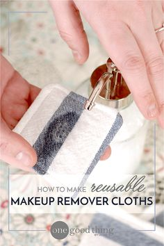 If you're tired of paying for expensive makeup remover and/or cleansing cloths, check out my DIY makeup removing system! I love it! I think you will too! :-)