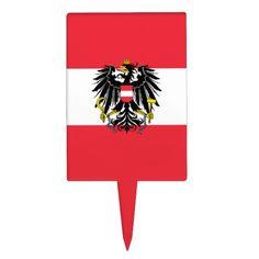 Austrian flag Cake pick