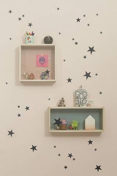 Ferm Living Wall Stickers - Mini Stars zwart wonenmetlef.nl