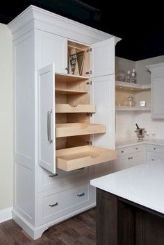Corner Cabinetry - CLICK THE PICTURE for Lots of Kitchen Ideas. #kitchencabinetideas #woodcabinetkitchen