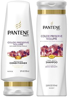 Pantene ProV Color Preserve Volume DUO Set Shampoo 126 Ounce  Conditioner 12 Ounce 1 Each ** More info could be found at the image url.Note:It is affiliate link to Amazon.
