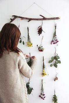 Movil de flores naturales DIY - Natural flower garland