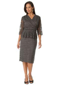 788348a1f24 Jessica London s plus size Peplum Lace Dress is ultra flattering. Plus Size  Work Dresses