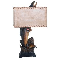 """Walleye 33"""" H Table Lamp with Rectangular Shade"""