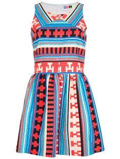 Msgm Aztec Print Dress