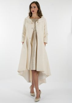 Fely Campo Silk Dress & Coat Outfit