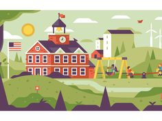 School Yard by Matt Anderson #Design Popular #Dribbble #shots