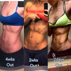 """Here is an example of what """"peaking"""" looks like. Closer to your contest date cardio ramps up, specific macros are adjusted, and specific foods are eliminated. Results happen very quickly in the weeks leading up to your show but are not intended to be permanent. I typically maintain my physique at the 4 weeks out look for most of the year and only dial it down for competitions. Of anyone needs guidance on shredding techniques and principles I offer consultations and custom meal and training…"""