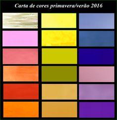 Cartela de cores para a primavera verão 2016 - Industria Textil e do Vestuário - Textile Industry - Ano VII