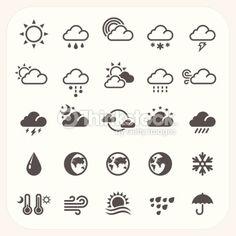 ベクトルアート : Weather icons set